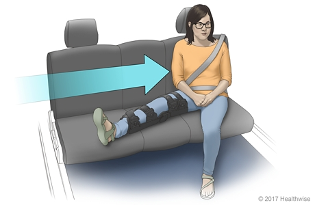 How to sit with leg extended on seat