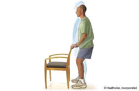 Shallow standing knee bends
