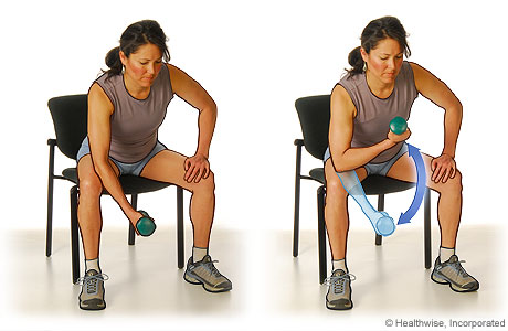 Biceps curls exercise