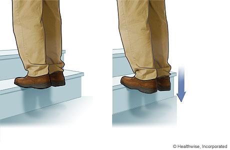 Stair stretch